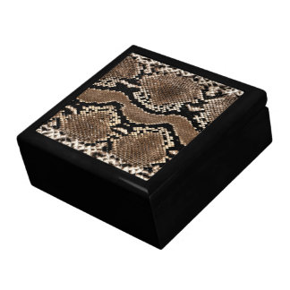 Snake Skin Print Jewerly Box