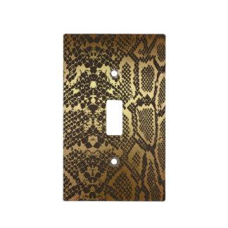Snake Skin Print Modern Glam Gold Light Switch Cover