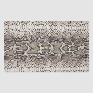 Snake Skin Rectangular Stickers