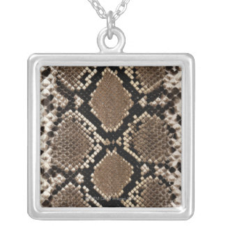 Snake Skin Silver Plated Necklace