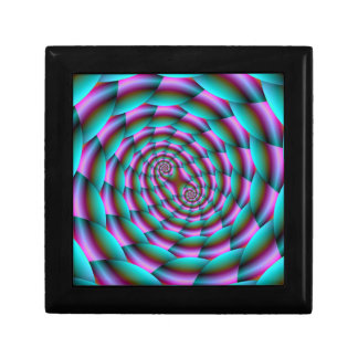 Snake Skin Spiral in Turquoise and Pink Gift Box