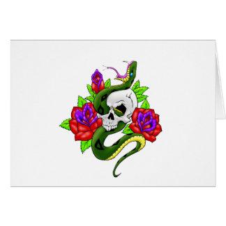 Snake, Skull, and Skull Card