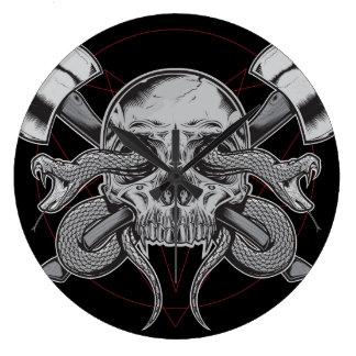 Snake, Skull Clock, with AXES Clocks