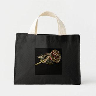 Snake Tote Bag Black