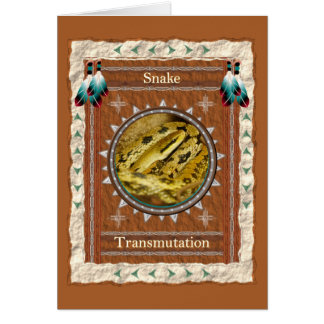 Snake  -Transmutation- Custom Greeting Card