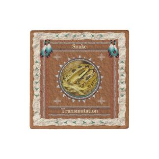 Snake  -Transmutation- Primed Marble Magnet