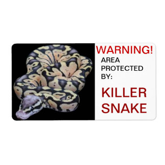 Snake Warning Shipping Label