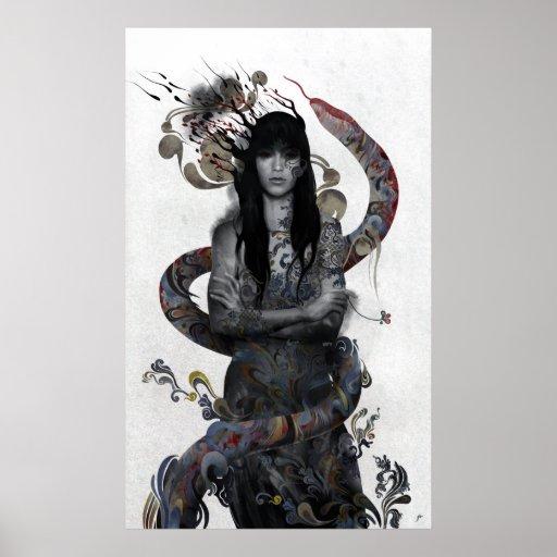 Snake Woman Print