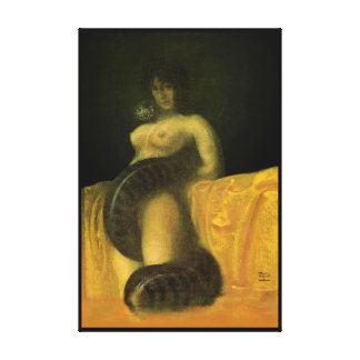 SnakeGrl Stretched Canvas Wall Art 24x36 (THICK) Gallery Wrap Canvas
