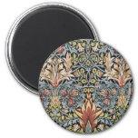 Snakeshead design by William Morris Fridge Magnet