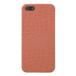 Snakeskin Coral Colored iPhone 5 Case