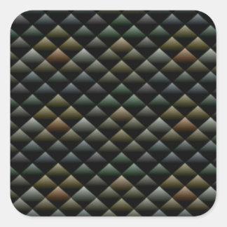 Snakeskin Effect Art Square Sticker