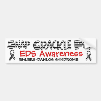 Snap, Crackle, Pop EDS Ehlers-Danlos Sydrome Bumper Sticker