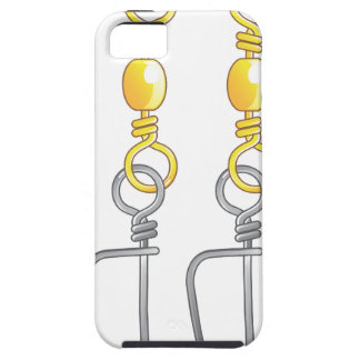 Snap swivels vector illustration fishing tackle iPhone 5 case
