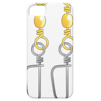 Snap swivels vector illustration fishing tackle iPhone 5 covers