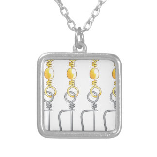 Snap swivels vector illustration fishing tackle silver plated necklace