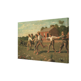 Snap the Whip, 1872 Stretched Canvas Print