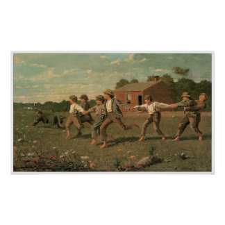 Snap the Whip, 1872 Winslow Homer Poster