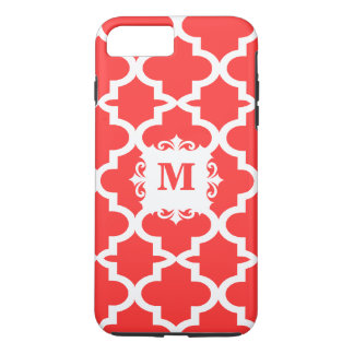 Snapdragon Coral Moroccan Tile Personalized iPhone iPhone 7 Plus Case