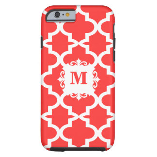 Snapdragon Coral Moroccan Tile Personalized iPhone Tough iPhone 6 Case