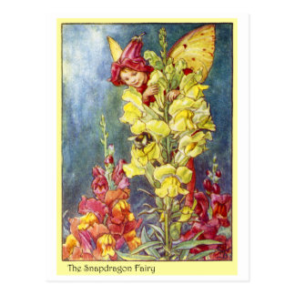 Snapdragon Fairy Postcard