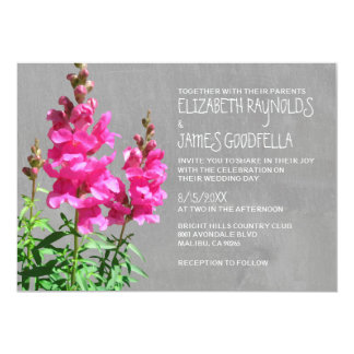 Snapdragon Wedding Invitations