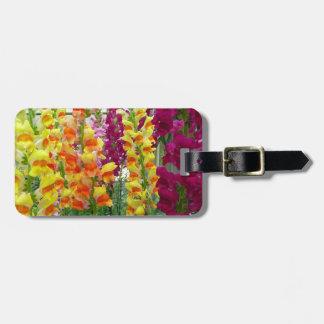 Snapdragons Colorful Floral Bag Tag