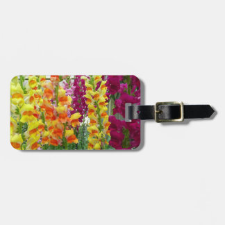 Snapdragons Colorful Floral Luggage Tag