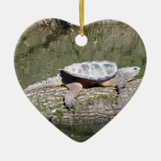 Snapping Turtle Ceramic Ornament
