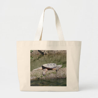 Snapping Turtle Large Tote Bag