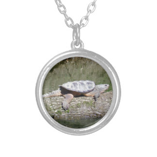 Snapping Turtle Silver Plated Necklace