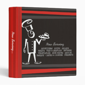 snappy chef male food plate recipe cookbook binder