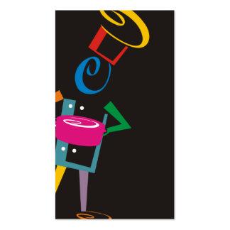 snappy chef retro color business card