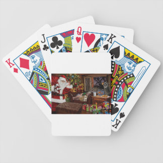 Snappy Santa Bicycle Playing Cards