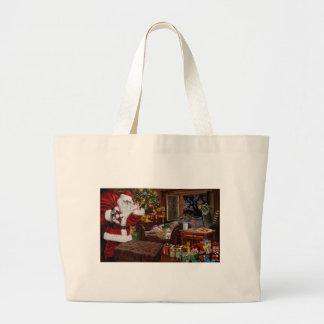Snappy Santa Large Tote Bag