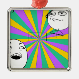 snapshot 2 Vic Inc Silver-Colored Square Ornament