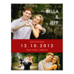 Snapshots Wedding in Red Save the Date Card Personalized Invite