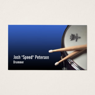 Drummer business cards business card printing zazzle ca snare drum blue drummer musician business card colourmoves Image collections