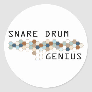 Snare Drum Genius Round Stickers