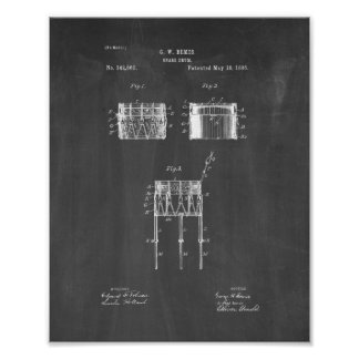 Snare Drum Patent - Chalkboard Poster