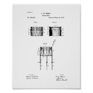 Snare Drum Patent Poster