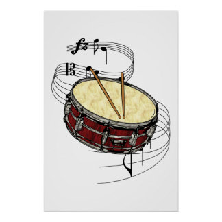 Snare Drum Poster