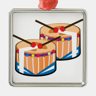 Snare Drums Metal Ornament