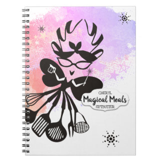 Snarky cooking fairy cookbook recipe notebook