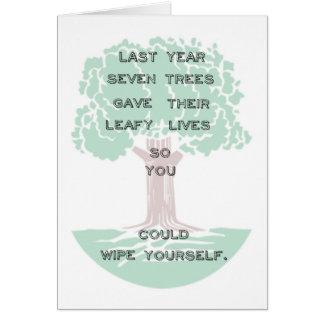 Snarky Green Tree Birthday Card