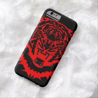 Snarling Arty Tiger Artwork in Blacks and Reds Barely There iPhone 6 Case