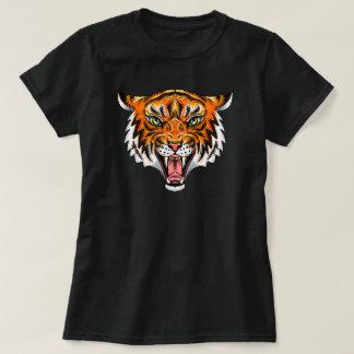 snarling tiger head tee shirt