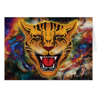 Snarling Tiger Nebula Greeting Card