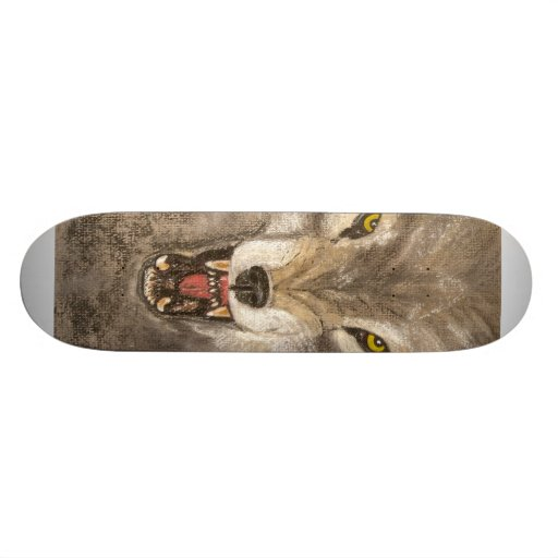 Snarling Wolf Skate Deck