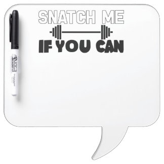 Snatch Me (weights) Dry Erase Board
